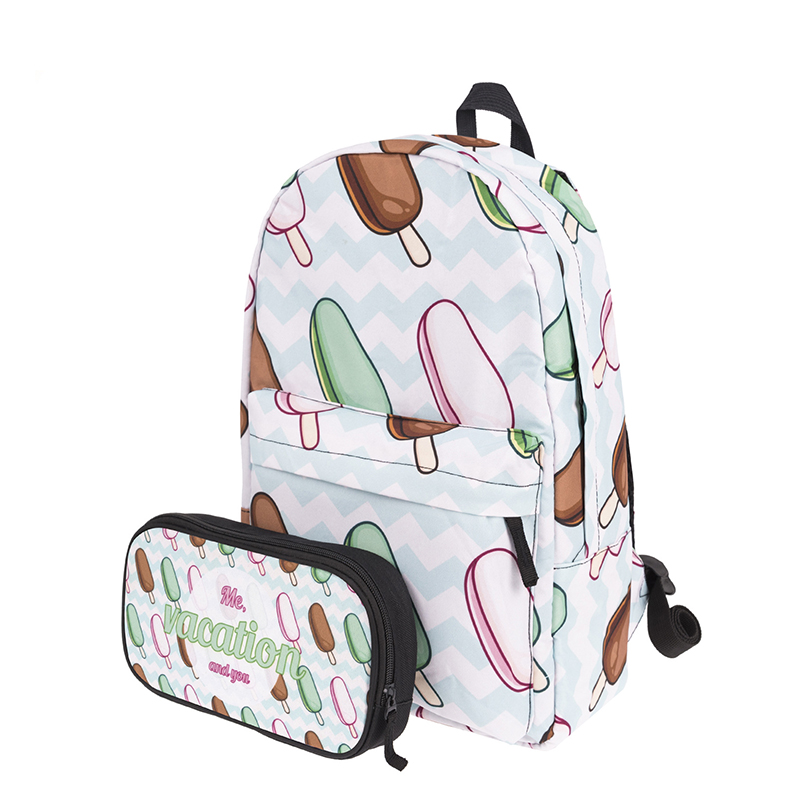 YUFANG 3D Printing School Bag Women Backpack for Teenager Schoolbag For Girls Casual Daypack Mochila Travel Backpacks Female harajuku style ice cream printing backpack high middle school student shoulder bag backpack for teenager girls casual travel bag