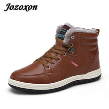 Jozoxon 2017 Arrival Men Winter Boots Warm Snow Boots High Quality Pu Leather Casual Boots Working Fahsion Boots Essential Shoes