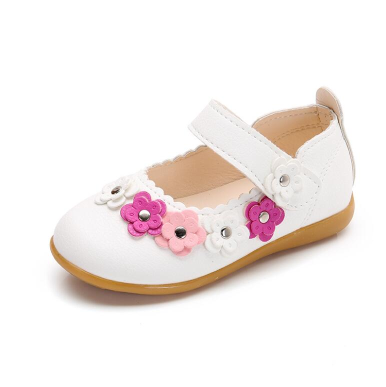 2018 New Top Quality Fshion School Princess Shoes Kids Baby Flat Leather Shoes For Children 1 2 3 4 5 6 Old Years 26