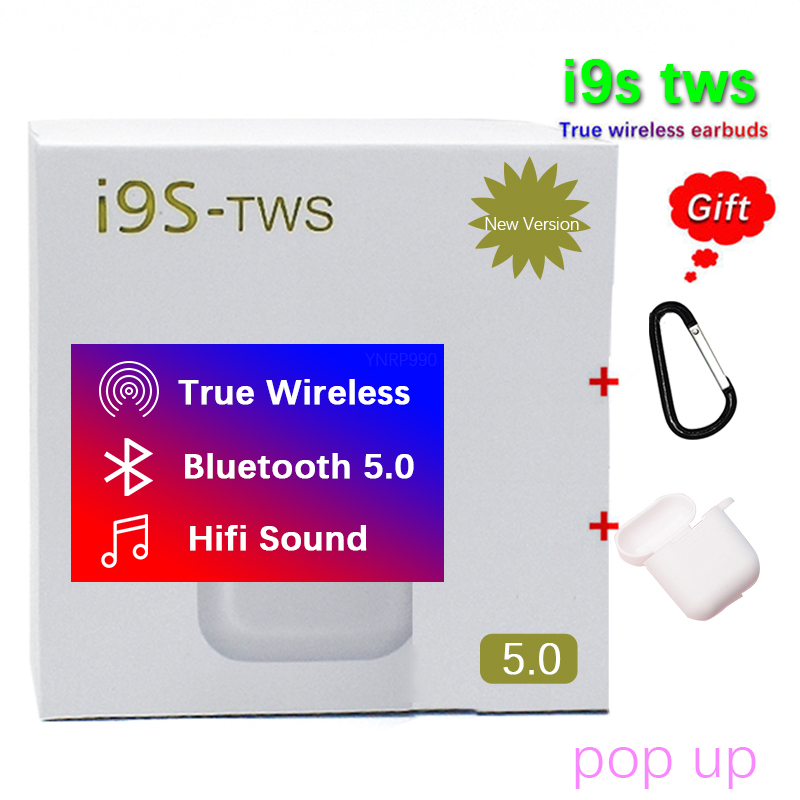 I9s Tws 2019 Bilateral Portátil Sem Fio do Fone Bluetooth 5.0 Headset Mic Earbud Android Auriculares audifonos fone sem fio