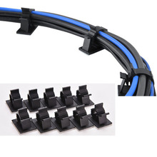 Автомобилей/офис/домашний cli фиксированной стяжки самоклеющиеся зажимы кабельные провод падения провода автомобиля