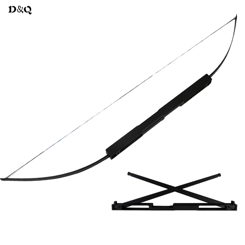 40-60lbs Portable Folding Straight Bow for Outdoor Hunting Shooting Fishing Games Foldable Archery Aluminum Alloy Slingshot Bow shooting straight