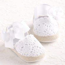 fce324684eb0 ROMIRUS Bebê Recém-nascido Menina Sapatos Primavera Verão Doce Muito Leve  Mary Jane Grande Arco De Malha De Dança Vestido de Bai.