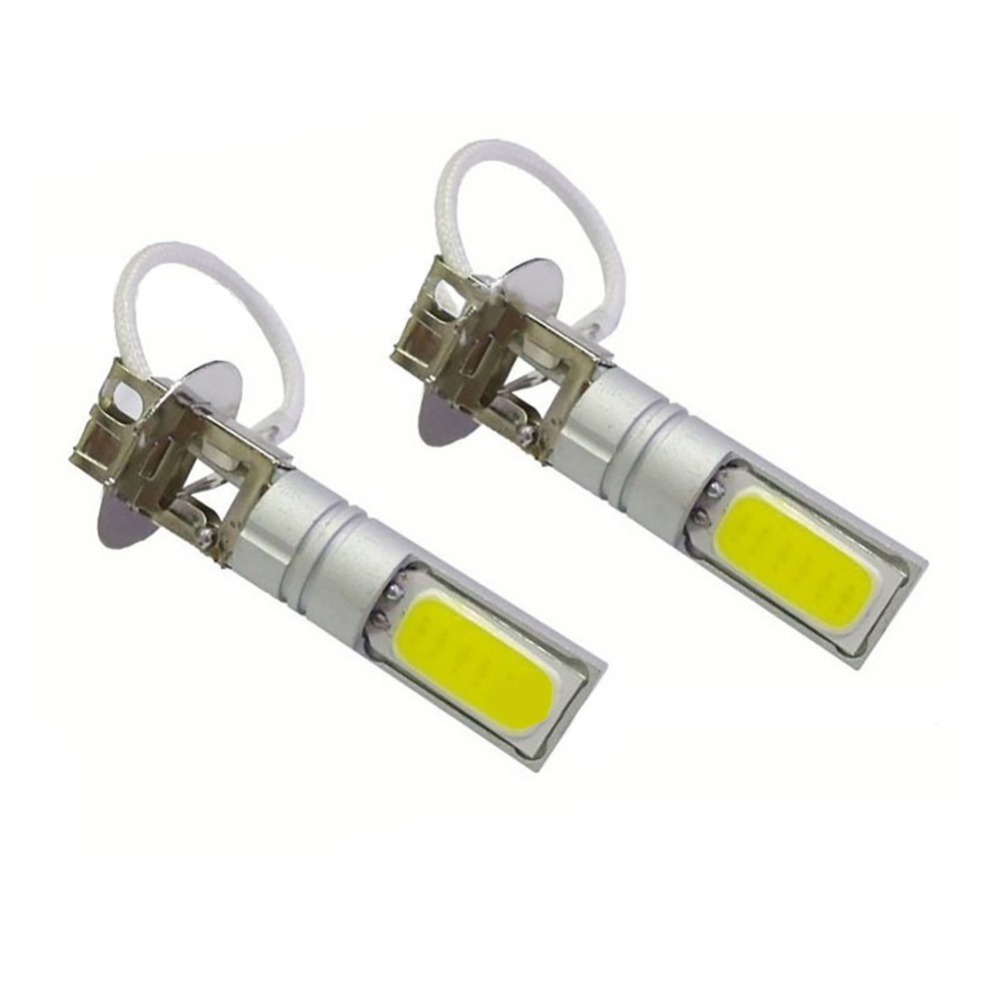 Newest 2pcs H3 Fog Lights LED COB Motorcycle Headlight Lamp Bulb AC/DC 12-24V Extremely Bright Light Bulbs