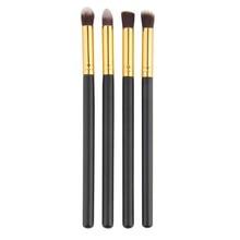 4pcs set Professional Eye brushes set eyeshadow Foundation Mascara Blending Pencil brush Makeup tool Cosmetic Black