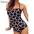 Biquini Cintura Alta Traje de Baño Atractivo de Dos Piezas de Impresión de la Playa Traje de baño Para Las Mujeres Más El Tamaño de trajes de Baño XXL 3XL Brasileño Bikini