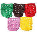 5PCS Reusable Waterproof Diaper Cover  Colorful Double Row Snap,For 3-15kgs And 3-36 Months Baby