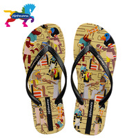 06128810734ecc Hotmarzz Female Flip Flops Flat Women Slippers Shoes African Tribe Print  Fashion Slides Ladies Thong Sandals