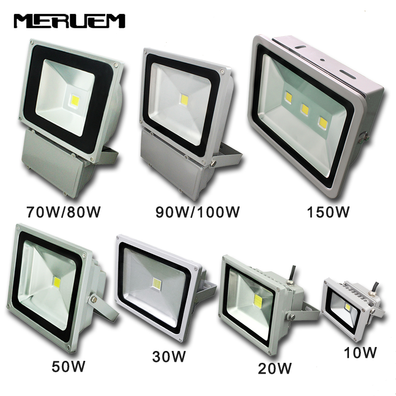 LED Reflet flood light 10W 20W 30W 50W 70W 80W 90W 100W 150W AC85-265V waterproof IP65 Floodlight Spotlight Outdoor Lighting