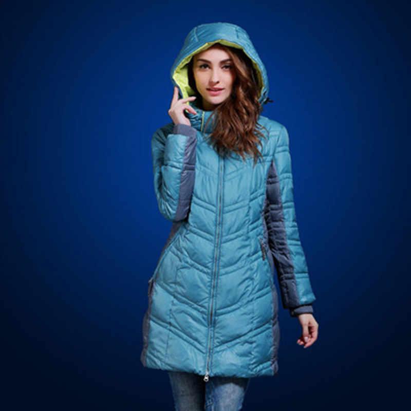 8c914249a90f Утолщение зимние женские пальто европейских и российских длинный абзац  Сращивание Цвет теплая куртка Большие размеры 48