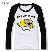 Spring Women's T Shirt Raglan Sleeve T-shirt Freddie Mercury Design Funny T Shirt Don't Stop My Meow Letter Printing Femal Tops lace trim raglan sleeve t shirt