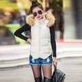 Down Jacket Hooded Vest  Fashion Design Autumn Winter Coat Ladies Gilet Colete Feminino Casual Waistcoat Female Jacket