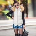 Para baixo Casaco Com Capuz Colete Colete Casaco de Design de Moda Outono Inverno Senhoras Gilet Colete Feminino Colete Casuais Jaqueta Feminina