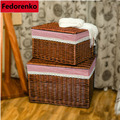 XXL de almacenamiento cestas de mimbre con tapa ropa de bebé ropa de cestas para clotcanasta de almacenamiento panier rangement enfant