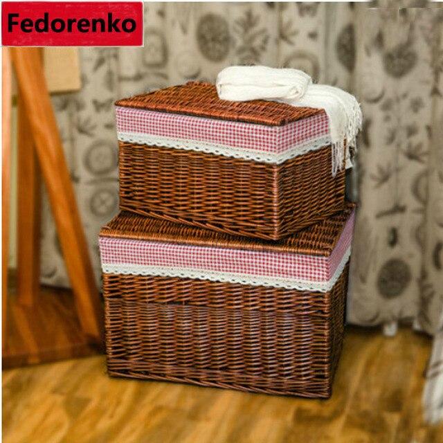 XXL storage wicker baskets with lid baby clothes laundry box baskets for clotcanasta de almacenamiento panier rangement enfant