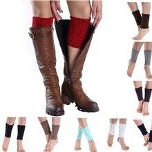 Женские зимние осенние модные вязаные носки гетры короткие прямые плетеное голенище Вязаные Гетры