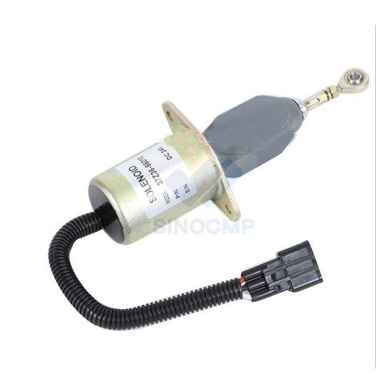24V Fuel Shut Off Solenoid 3973958 37Z36-56010 37Z36-56010A for Excavator, 3 month warranty24V Fuel Shut Off Solenoid 3973958 37Z36-56010 37Z36-56010A for Excavator, 3 month warranty
