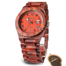 Man Wooden Watches BEWELL Brand Top Luxury Quartz Watch Natural Calendar Display Bangle Masculino Gift Relogio with Box 109B стоимость