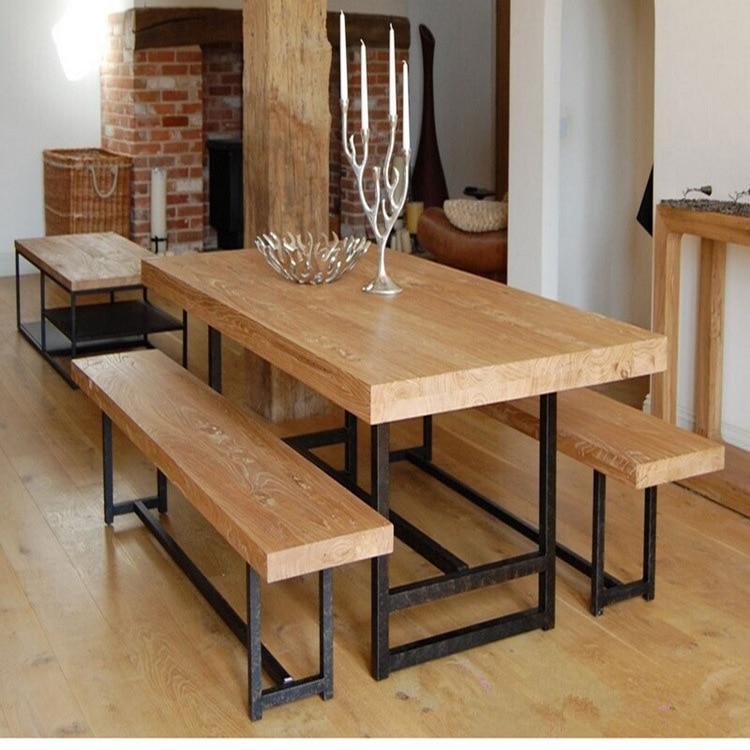 Comprar excelente hogar natural de hierro for Madera para mesa de comedor