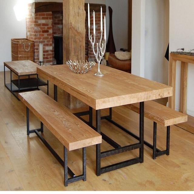 Comprar excelente hogar natural de hierro for Como hacer una mesa de madera para comedor
