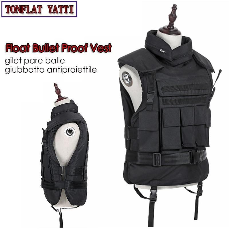 Floating Aramid Bullet Proof Military Tactical Vest Nij-iiia.44 Bulletproof Waterproof And Flame Retardant 600D Oxford Army Ves