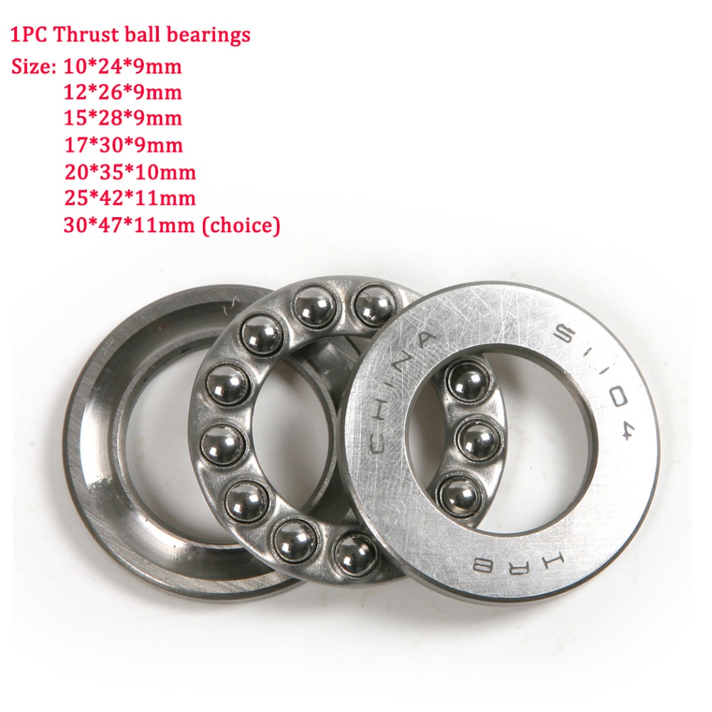 Hot New 1pc High Precision Bearing Steel Flat Thrust Ball Bearing Inner Diameter 10/12/15/17/20/25/30 mm Ball Thrust Bearings цена
