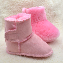 2017Very thick baby kids Boots first walkers Winter artificial fur Toddler Shoes soft sole Infant baby boy girls Shoes phanindra
