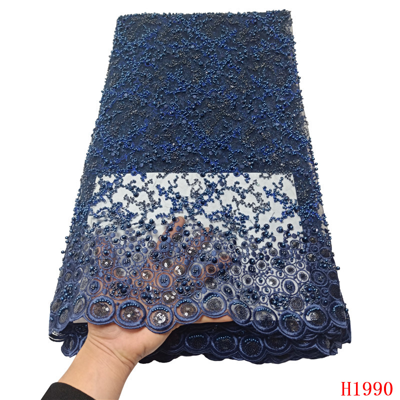 HFX Luxury Sequin Embroidery French Mesh Lace Latest African Laces 2019 Handmade Beaded Onion Dress Tulle Net Lace Fabric X1990HFX Luxury Sequin Embroidery French Mesh Lace Latest African Laces 2019 Handmade Beaded Onion Dress Tulle Net Lace Fabric X1990