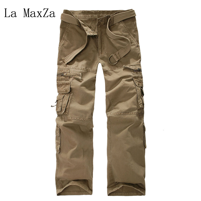 Cargo Pants Men Combat SWAT Army Military Pants Cotton Many Pockets Stretch Flexible Man Casual Trousers ...
