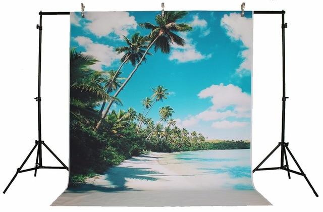 life magic box vinyl cloud backdrop photo backdrop coconut tree sea