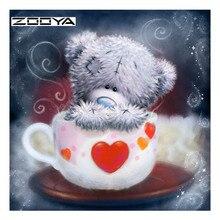 ZOOYA 5D Diy Diamond Painting Full Cartoon Bear Love Embroidery Sale Pictures Of Rhinestones Needlework DIY Mosaic SF498