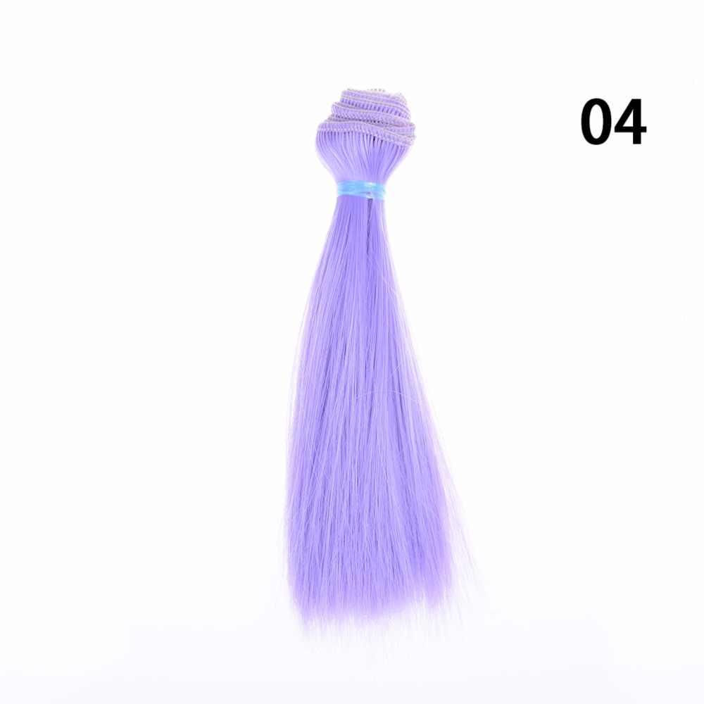 1 Uds. De muñeca peluca Natural Color 15Cm largo y recto pelo de alta temperatura grueso para BJD muñeca pelucas de pelo accesorios de la muñeca