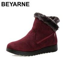 2016 mujeres de invierno zapatos botines de las mujeres el nuevo 3 color de moda de moda casual plana mujer caliente botas de nieve botas de envío gratis