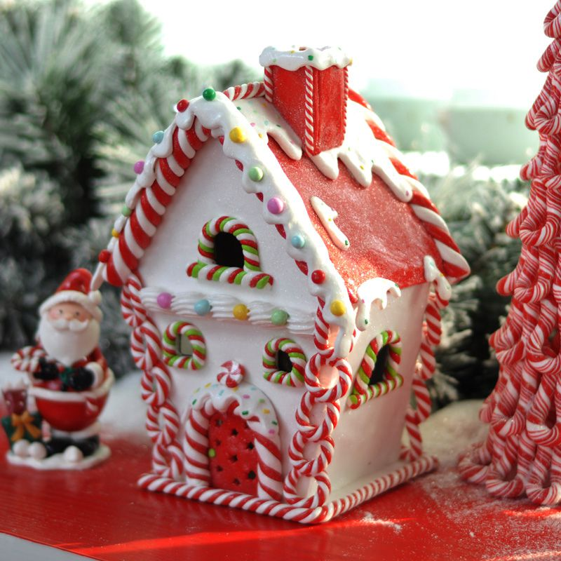 Christmas Candy Decorations.Us 20 0 20 Off Car Decoration Christmas Decorations Igloo Christmas Candy House Christmas Market Window Accessories Exquisite Gift In Ornaments From