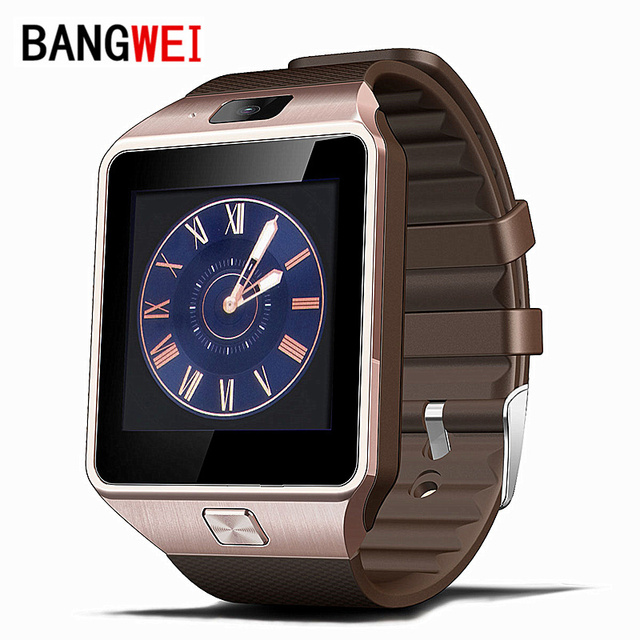 2016 BANGWEI Smart Watch Clock With Sim Card Slot Push Message Bluetooth Connectivity Android Phone Better Than DZ09 Smartwatch
