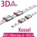 3D принтер части Коссель Мини для 12 мм Линейная Направляющая MGN12 L 400 мм линейный рельс + MGN12H Длинные линейные перевозки для ЧПУ Xyz оси
