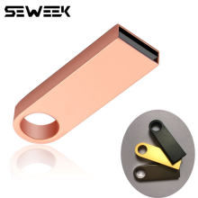 SEWEEK mini metalowa pamięć usb flash 64GB 32GB 16GB 8GB 2TB dysk flash przenośny 128GB Pendrive Pendrive dysk flash(China)