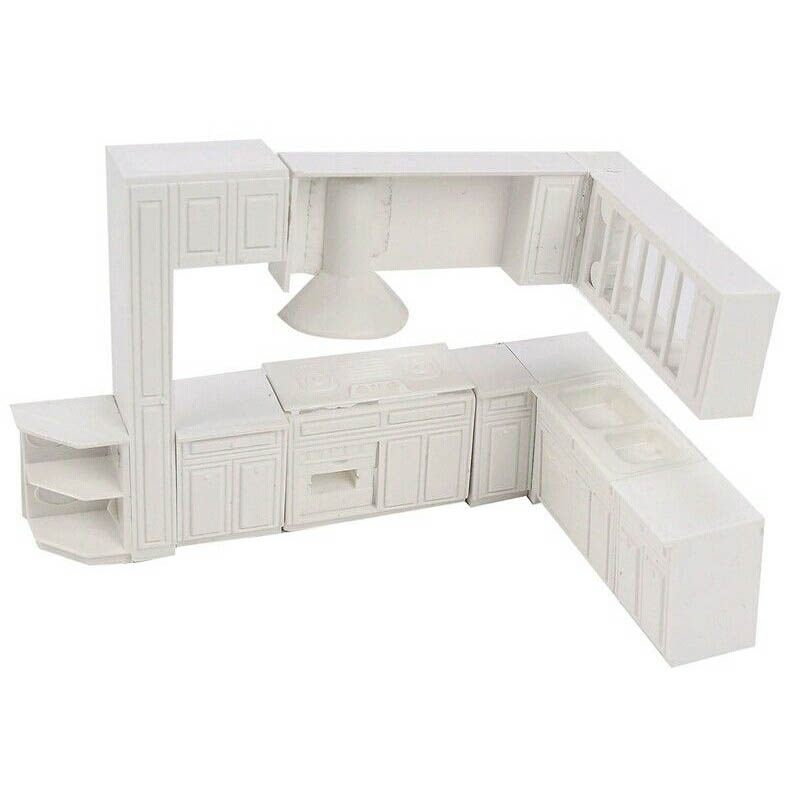 Doll House Miniature Toy House Cabinet Kitchen Furniture Molds Home Decor Kit Pretend Play Classic Toys Furniture Toys