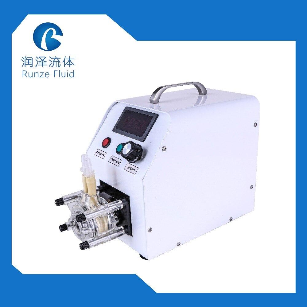 Runze SN15 Velocidade Ajustável 0-1600 ml/min Auto Priming Da Bomba Peristáltica Dosagem Tubo Líquido WT1.6