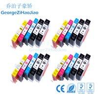 20 piezas 655XL Compatible 655 cartucho de tinta HP 655 HP655 para deskjet serie 3525  5525  685  670 655xl 4615  4625 impresora