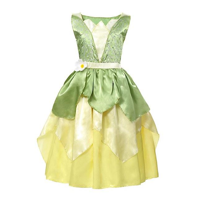 e59629e00faa VOGUEON Girl Tiana Fancy Dress Up Kids Sleeveless Floral The ...