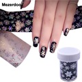 1 Roll Christmas Snowflake Holographic Nail Foils Nail Art Transfer Sticker Paper Tips Decals Manicure X'mas Stickers 120cm*4cm