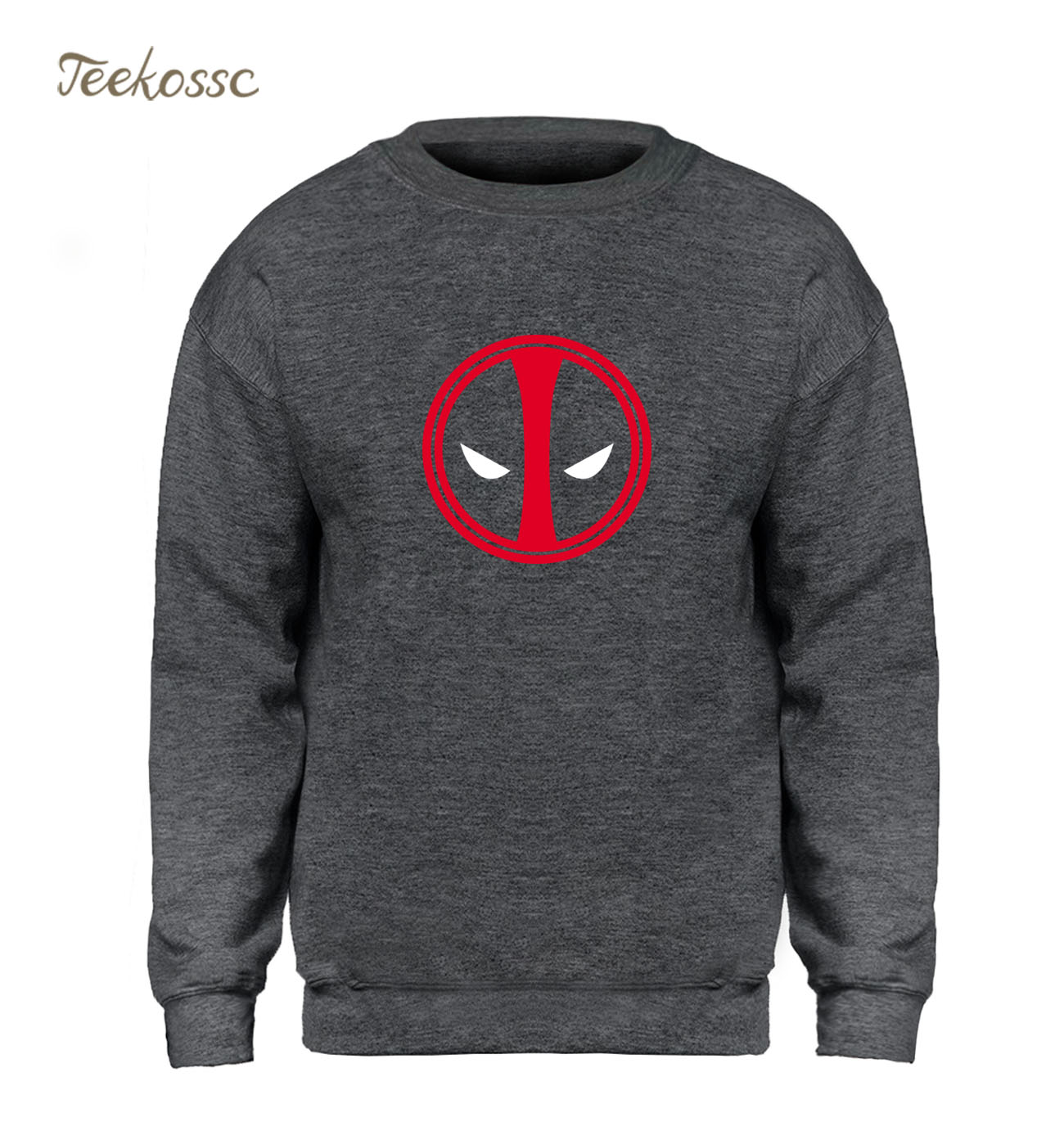 Deadpool Costume X-men Black Hoodie Men Super Hero Sweatshirt Cool Sweatshirts 2018 Winter Autumn Fleece Warm Printed Streetwear