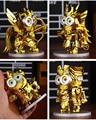 New Arrival 4pcs/set Animation Movie Despicable Me Minions Cosplay Saint Seiya Gemini Leo Sagittarius Virgo 10cm Action Figure