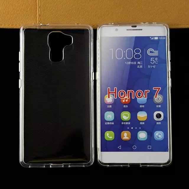 Мягкая задняя крышка из ТПУ с защитой от водяного знака Чехол для Huawei Honor 7, чехол для телефона, 200 шт./партия, DHL, бесплатная доставка