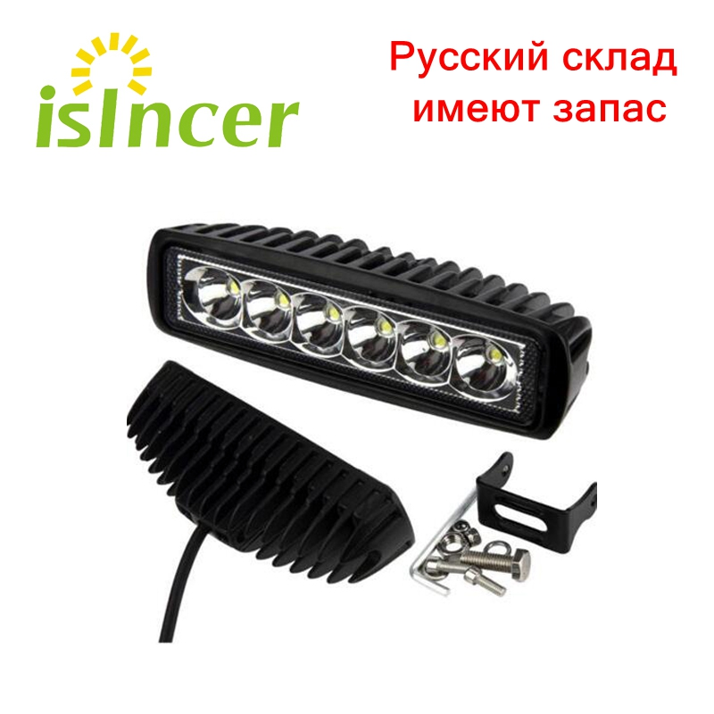 New 18W 12V LED Work Light Bar Spotlight Flood Lamp Driving Fog Offroad LED Work Car Lights for Jeep Toyota SUV 4WD Boat Truck guleek f018bf 18w 1260lm 6000k 6 led white flood light working lamp for offroad car