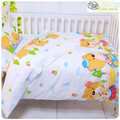 Promoção! 3 PCS Kitty Mickey Jogo de Cama Do Bebê berço Do Bebê berço berço cama set cunas, (Capa de Edredon + Folha + fronha)