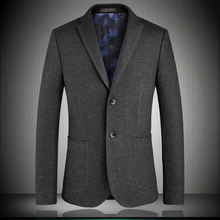 High quality men blazers 2019 spring new solid EU style single breasted man suit jacket Dark green blue black gray S-4XL 1751
