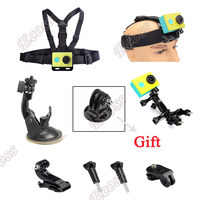 xiaomi yi set Bike Bicycle holder Handlebar+car suction cup+chest belt mount+Head strap+J hookFor GoPRO & XIAOMi yi Accessories