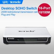 Tenda S16 Switch 16-портовый 10/100 Мбит/С Auto-Negotiation Портов RJ45 с Auto MDI/MDIX 200 Мбит Полного Дуплекса Пропускной Способности на Каждый Порт Переключатель